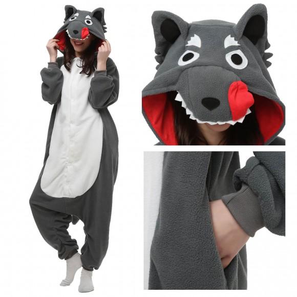 Wolf Onesie Pajama Animal Pajama For Adult
