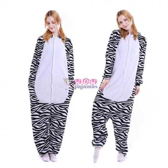 Zebra Onesie for Adult Animal Onesies Pajama