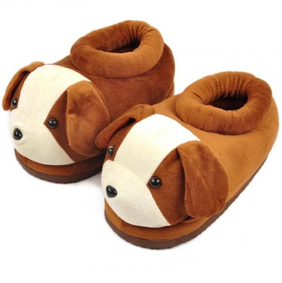 Dog Plush Paw Claw House Slippers Animal Pajamas Shoes