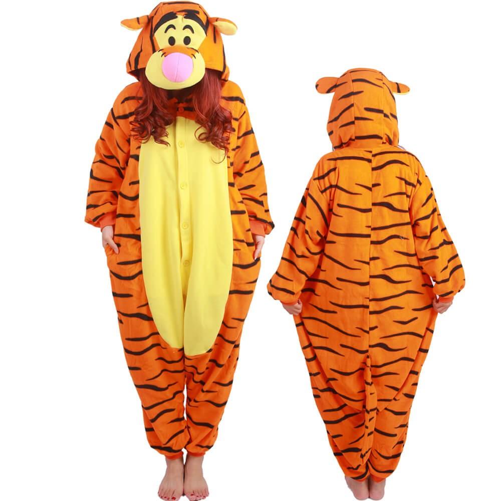 Winnie The Pooh Tigger Costume Onesie Pajamas For Adult ...