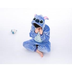 Blue Stitch animal kigurumi onesie pajamas for kids
