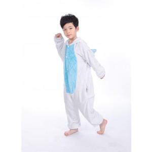 Blue Unicorn animal kigurumi onesie pajamas for kids