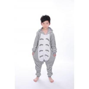 Grey Totoro animal kigurumi onesie pajamas for kids