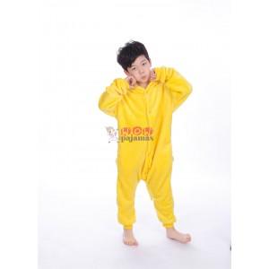 Yellow Pikachu animal kigurumi onesie pajamas for kids