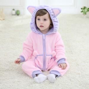 Baby Purple Cat Kigurumi Onesie Pajamas Animal Onesies Costume