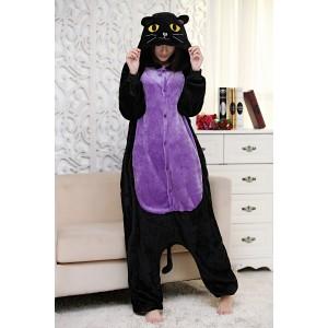 Kigurumi Black Cat Onesie Pajamas Animal Onesies for Adult