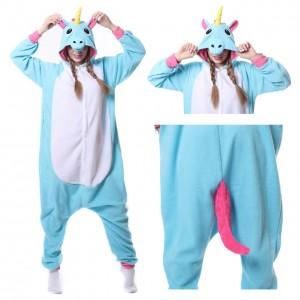 Blue Unicorn Kigurumi Onesie Pajama For Women & Men