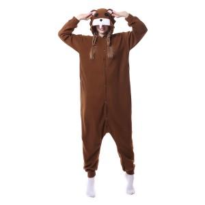Brown Bear Onesie Pajama Unisex Animal Onesie Pajama