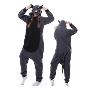 Gray Raccoon Panda Onesie Pajama Animal Onesie Pajama For Adult