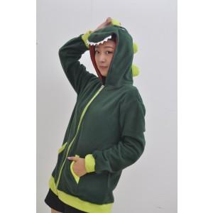 Green Dinosaur Kigurumi Animal Fleece Hoodie Coat Jacket
