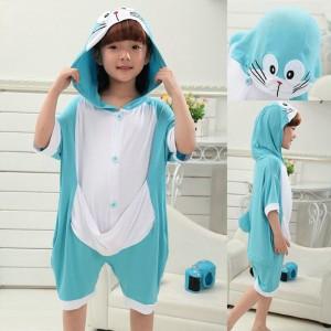 kids kigurumi Animal Doraemon Onesies Short Sleeves Pajamas