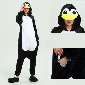 Unisex Black white Penguin kigurumi onesies animal pajamas