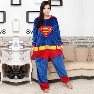 Unisex kigurumi Blue Red Superman onesies animal onesies pajamas