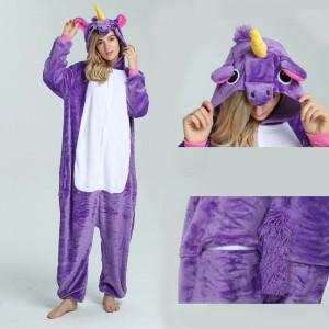 Unisex kigurumi Purple Pegasus onesies animal onesies pajamas