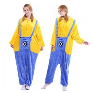 Unisex kigurumi Yellow Blue Minions onesies animal onesies pajamas