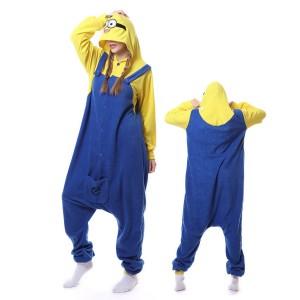 Minions Onesie Pajama Winter Warm Animal pajamas For Adult