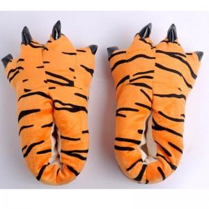 Orange Tigger Animal Onesies Kigurumi slippers Adult Plush Shoes