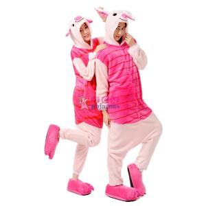 Pig Onesie Pajama Winter Warm Animal pajamas For Adult