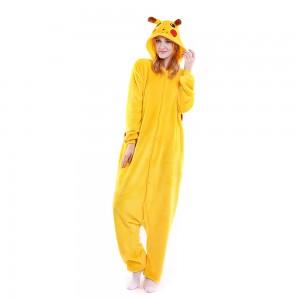 Unisex Pikachu Onesie Kigurumi Animal Pajama For Adult