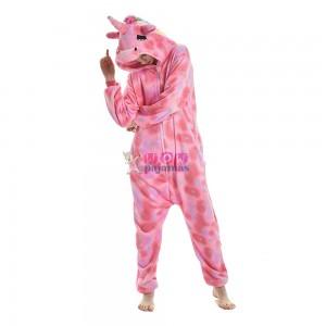 Pink Star Pattern Unicorn Onesie Pajamas For Women & Men