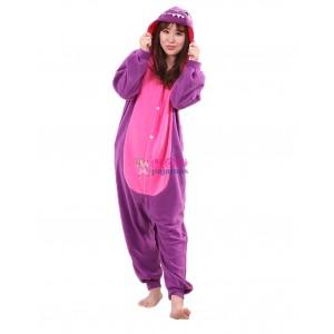 Purple Dinosaur Onesie Animal Pajama For Adult
