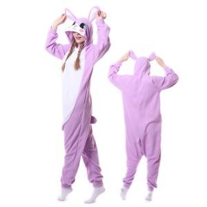 Purple Rabbit Bunny Onesie Pajamas Costumes Adult Animal Onesies