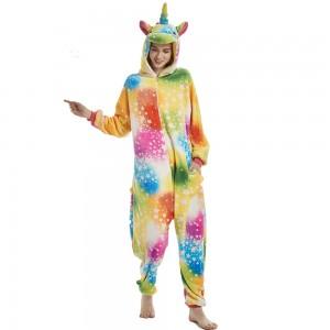 Star Rainbow Unicorn Onesie Pajama For Women & Men