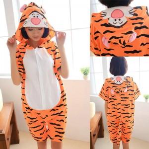 Tigger Kigurumi Summer Onesies Pajamas Animal Hoodie Short Sleeve