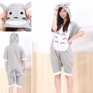Totoro Kigurumi Summer Onesies Pajamas Animal Short Sleeve Hoodie