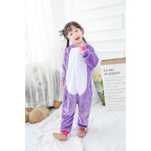 Unicorn With Rainbow Color Onesie pajamas For Kids