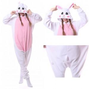White Rabbit Onesie Animal Onesie Pajama For Adult