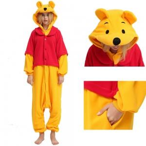 Unisex Winnie the Pooh Bear Onesie Pajama Winter Warm Costume