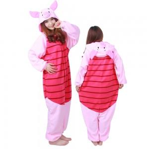 Winnie The Pooh Piglet Costume Pig Onesie Pajamas For Adult & Teens