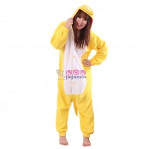 Yellow Dinosaur Onesie Animal Pajamas For Women & Men