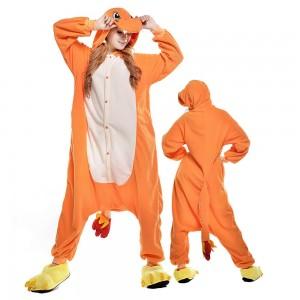 Unisex Charmander Onesie Pajama Animal Costumes For Adult
