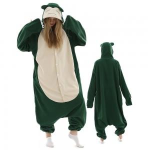 Unisex Snorlax Onesie Pajamas Costumes For Adult