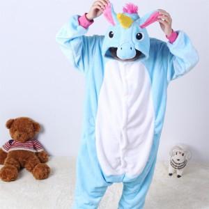 Blue Pegasus animal kigurumi onesie pajamas for kids