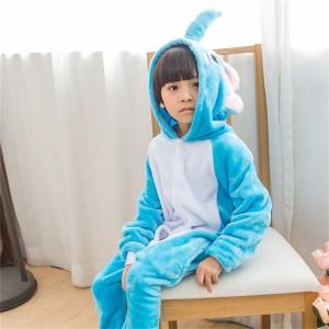 Sky Blue white Dumbo Elephant onesie pajamas for kids