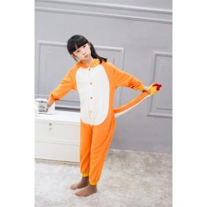 Yellow Charmander animal kigurumi onesie pajamas for kids