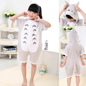 kids Anime Totoro Animal Onesies Short Sleeves Pajamas