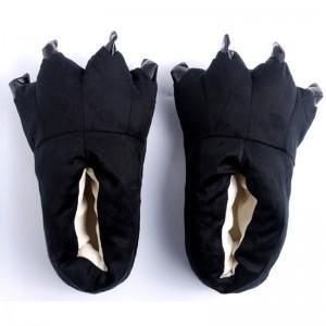 Black Animal Onesies slippers Kigurumi Adult Plush Shoes