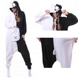 Black & White Bear Monokuma Onesie Pajama Animal Onesie Pajama