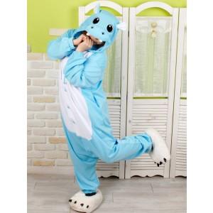 Kigurumi Blue Hippo Onesie Animal Pajamas For Women & Men