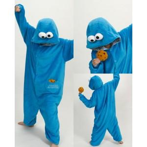 Blue or Red Sesame Street COOKIE MONSTER Animal Onesies Pajamas