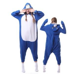 Blue Shark Onesie Pajamas Costumes Adult Animal Onesies