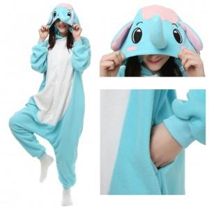 Elephant Kigurumi Onesie Pajamas Adult Animal Costumes