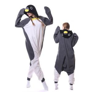 Gray Penguin Onesie Pajamas Costumes Adult Animal Onesies