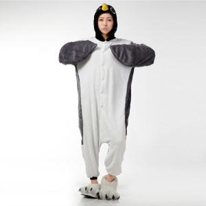 Gray Penguin Onesie Pajamas Adult Animal Costumes