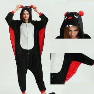 kigurumi Black Red Bat onesies animal pajamas for Women & Men