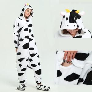 Black white Milk Cow kigurumi onesies animal pajamas